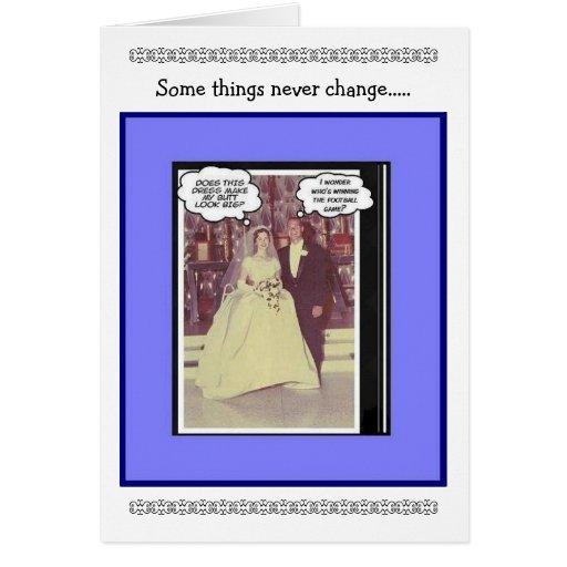 Aniversario de boda divertido - vintage tarjeta