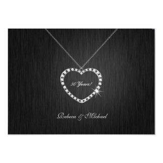 Aniversario de boda elegante del collar de invitación 11,4 x 15,8 cm