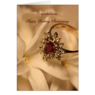 Aniversario de boda feliz de la enhorabuena tarjetas