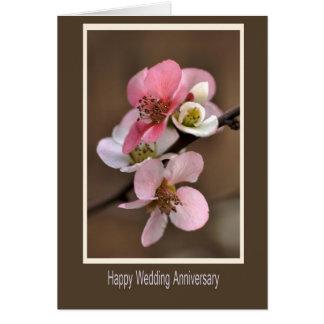 Aniversario de boda feliz tarjeta
