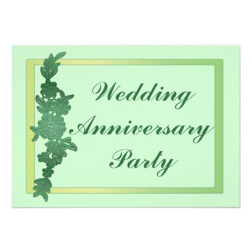 Aniversario de boda floral comunicado personalizado