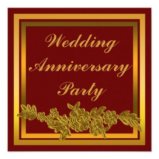 Aniversario de boda floral invitacion personal