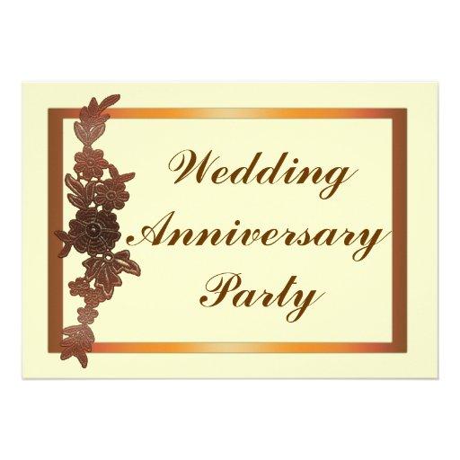 Aniversario de boda floral invitaciones personales