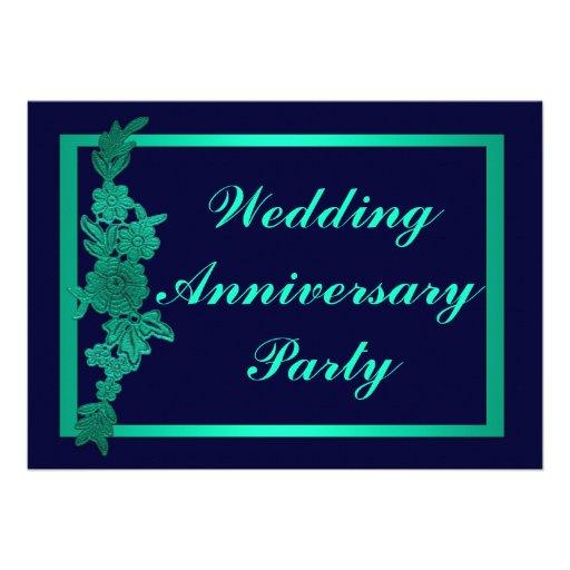 Aniversario de boda floral comunicado