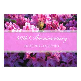 Aniversario de boda floreciente de la azalea invitación 11,4 x 15,8 cm
