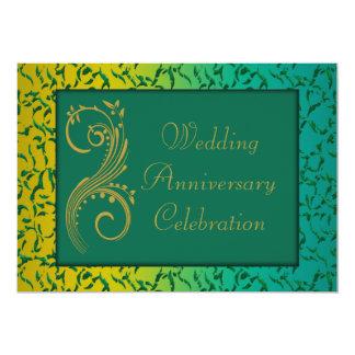 Aniversario de boda invitación 12,7 x 17,8 cm