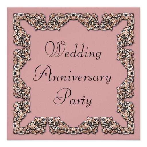 Aniversario de boda invitación personalizada