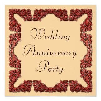 Aniversario de boda invitación 13,3 cm x 13,3cm