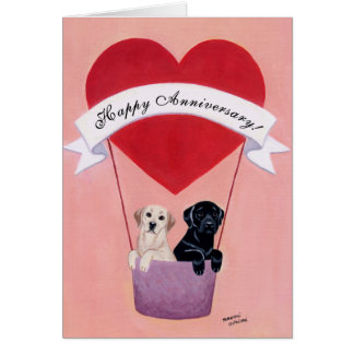Aniversario de boda Labradors Tarjetón