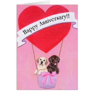 Aniversario de boda Labradors Felicitaciones