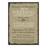 Aniversario de boda rústico de la arpillera