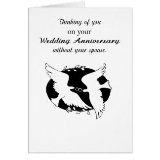 Aniversario de boda sin memorias del cónyuge, tarjeta de felicitación
