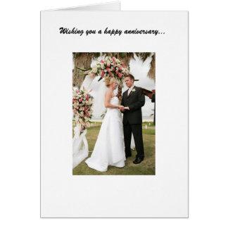 Aniversario de boda tarjeta de felicitación