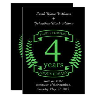 Aniversario de boda tradicional de los E.E.U.U. 4 Invitación 12,7 X 17,8 Cm