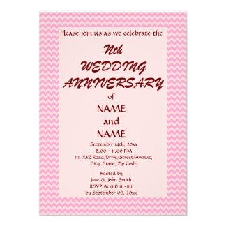 Aniversario de boda - zigzag rosado fondo rosado