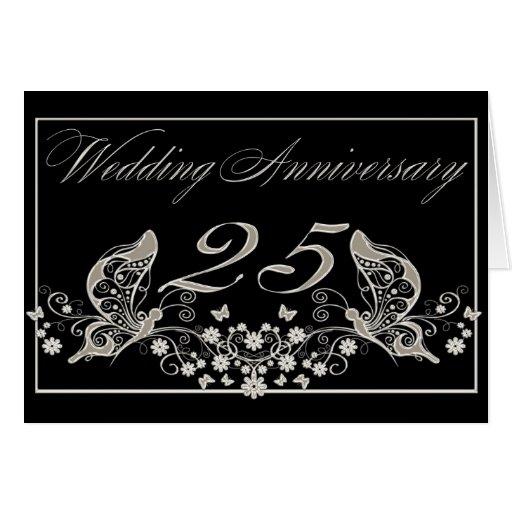 Aniversario de bodas de plata 25 años de invitació felicitaciones