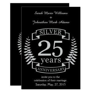 Aniversario de bodas de plata 25 años invitación 12,7 x 17,8 cm
