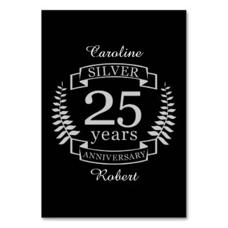 Aniversario de bodas de plata 25 años tarjeta