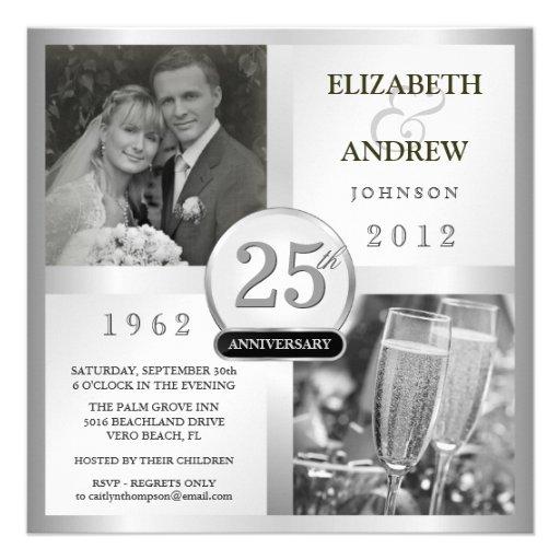 Aniversario de bodas de plata 25 - invitaciones de comunicados personales