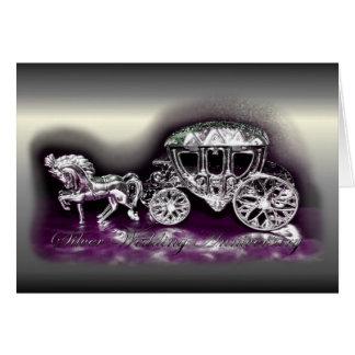 Aniversario de bodas de plata con un coche de plat tarjeton