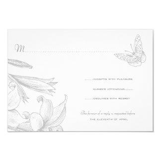Aniversario de bodas de plata de los lirios de la invitación 8,9 x 12,7 cm
