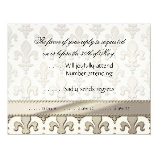 Aniversario de bodas de plata de RSVP, flor de lis Anuncios