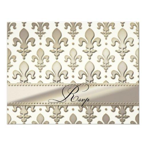 Aniversario de bodas de plata de RSVP, flor de lis Anuncios Personalizados
