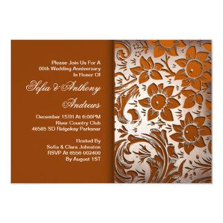 aniversario de bodas de plata floral invitación 12,7 x 17,8 cm