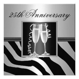 Aniversario de bodas de plata invitacion personal