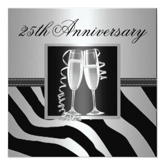 Aniversario de bodas de plata invitación 13,3 cm x 13,3cm