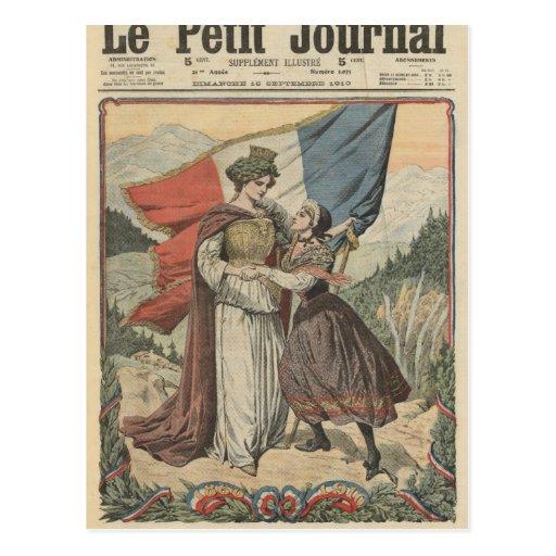 Aniversario de la anexión de la col rizada a tarjeta postal