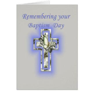 Aniversario de la cruz y de la mariposa del tarjeta de felicitación