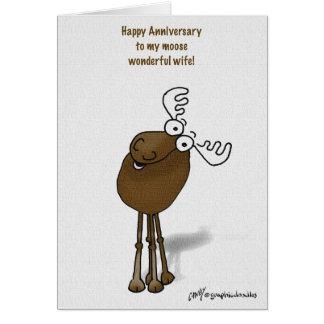 aniversario de los alces tarjeta de felicitación