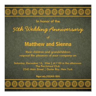 Aniversario de los remolinos invitación 13,3 cm x 13,3cm