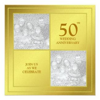 Aniversario de oro de la foto última y actual bri comunicado personalizado
