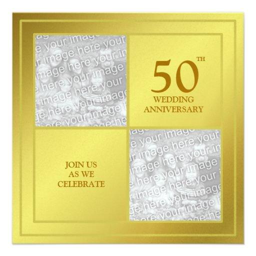 Aniversario de oro de la foto última y actual (bri comunicado personalizado