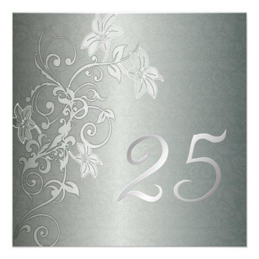 Aniversario de plata 25 años de instinto del damas comunicados personalizados