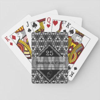 Aniversario de plata (25) modelado barajas de cartas