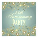 Aniversario de plata, 25tas invitaciones del invitación 13,3 cm x 13,3cm
