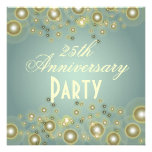 Aniversario de plata, 25tas invitaciones del anive invitación personalizada