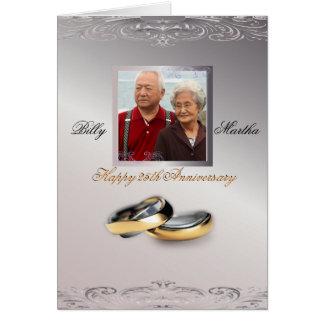 Aniversario de plata tarjeta de felicitación