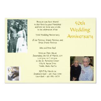 Aniversario de Rael 50.o,… Invitación 12,7 X 17,8 Cm