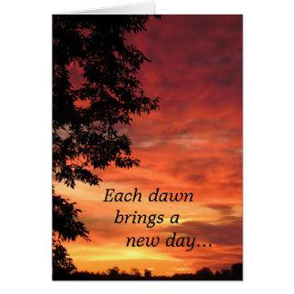 aniversario de una muerte - amanecer tarjeta de felicitación