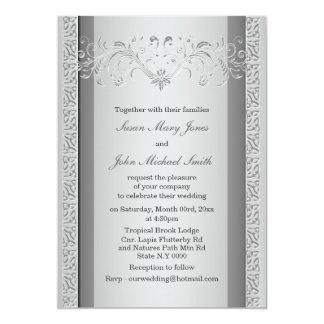 Aniversario del compromiso del boda de los gris invitación 12,7 x 17,8 cm