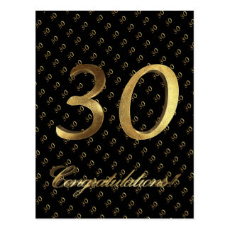Aniversario del cumpleaños del oro negro del postal