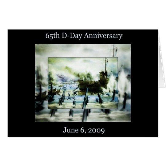 Aniversario del día D 65.o Tarjeta De Felicitación