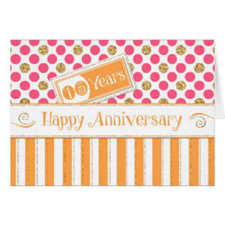 Aniversario del empleado 15 años de rosa del tarjeta de felicitación