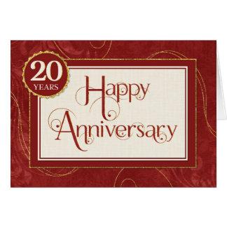 Aniversario del empleado 20 años - el texto tarjeta de felicitación