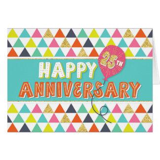Aniversario del empleado 25 años - modelo colorido tarjeta de felicitación