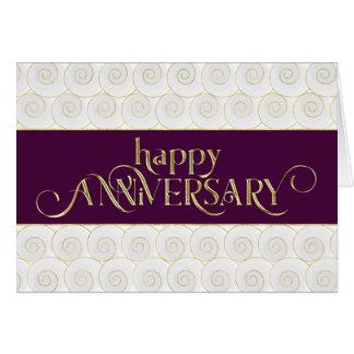 Aniversario del empleado - prestigioso - oro del tarjeta de felicitación